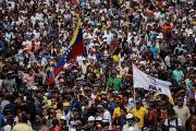 Thousands of people marched to show their support for the new Constituent Assembly in Caracas, August 4, 2017