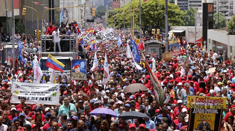 El pueblo venezolano se movilizó este jueves para acompañar a los constituyentistas electos a la instalación de la ANC.