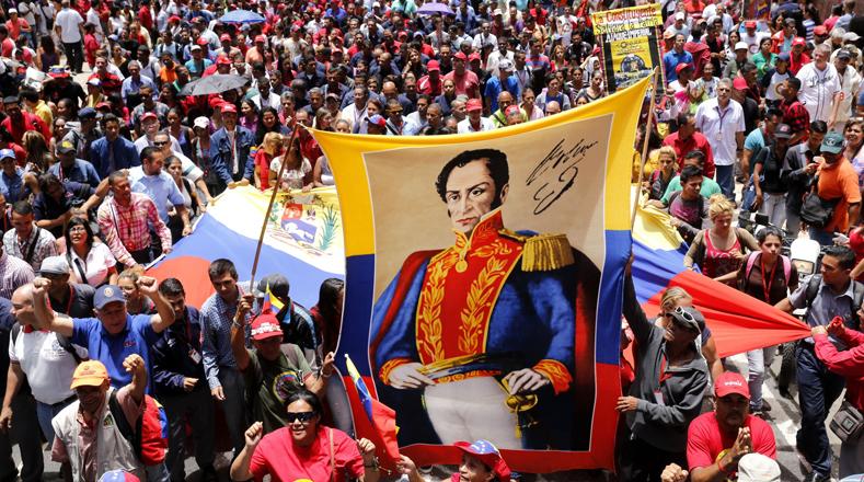 Entre gritos de alegría marcharon hasta la sede de la Asamblea Nacional, ubicada en el centro de la capital venezolana.