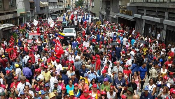 People join Caracas march in support of the ANC.