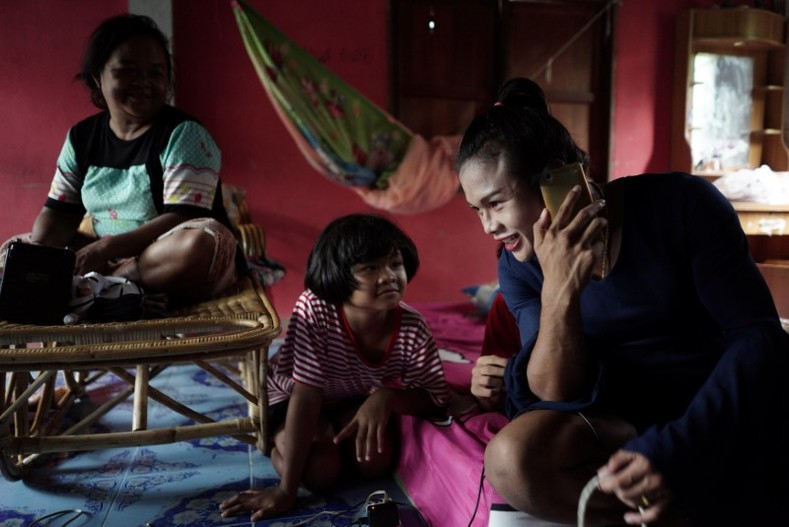 Rose spends time with her family in the Phimai district in Nakhon Ratchasima province, Thailand.