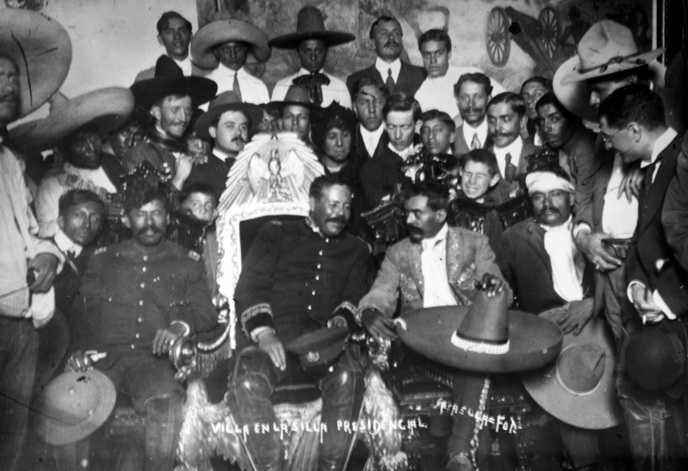 A better quality image shows Pancho Villa in the President