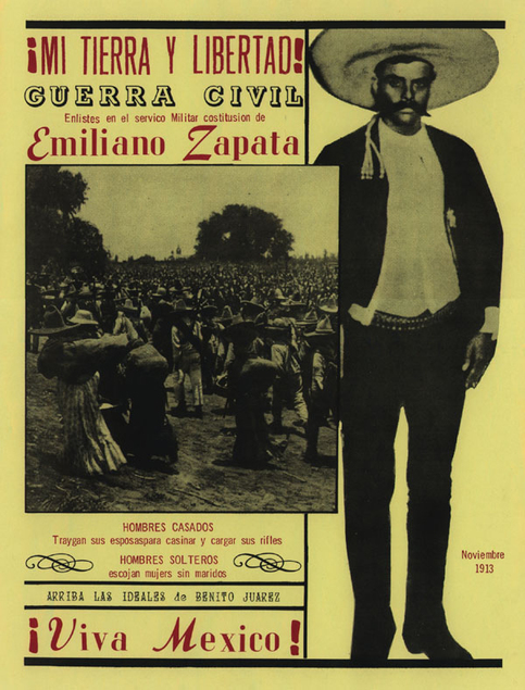 A recruitment pamphlet encouraging people to join Zapata