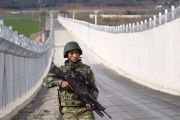 The wall at the Syrian border is 700km long – almost covering the full 828km. FILE