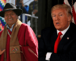 Presidents Evo Morales and Donald Trump