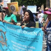 Radio Indigena community volunteers take part in workers