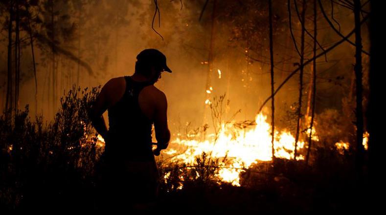 El incendio más alarmante se propagó la tarde de este domingo en el municipio de Vila de Rei, en el distrito de Castelo Branco (región Centro).