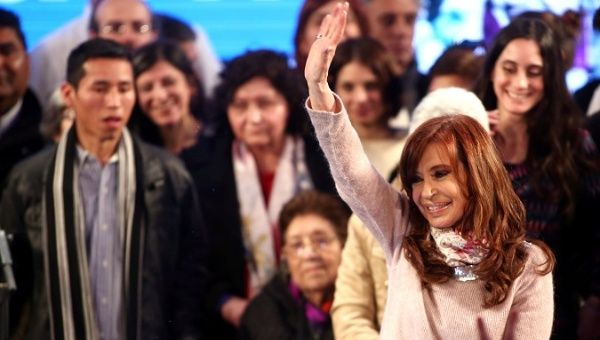 Cristina Fernandez has accused the government of manipulating the results of the Argentine primaries.