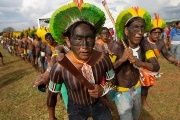 Indigenous people take part in the
