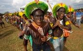 "Indigenous people take part in the ""Free Land Camp"" to decide protest strategies, Brasilia, Brazil, April 24, 2017"