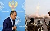 """The missile program budget is basically Iran's business. It is not prohibited from having this program,"" Russian Foreign Minister Sergei Lavrov (L) told reporters."