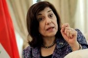 Bouthaina Shaaban, envoy of Syrian President Bashar al-Assad, speaks during an interview in Beijing, on August 15, 2012.