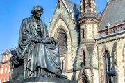 A statue of former Supreme Court Chief Justice Roger B. Taney.