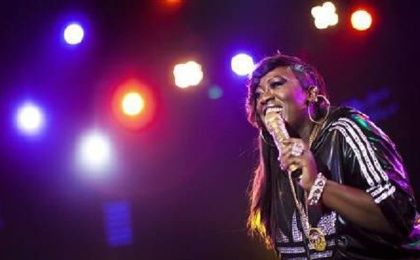 U.S. hip-hop singer Missy Elliott performs onstage during the 44th Montreux Jazz Festival in Switzerland, July 5, 2010.