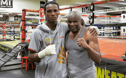 Carlos Mina was recently training at the Mayweather Boxing Club in Las Vegas, Nevada, with boxing legend Floyd Mayweather