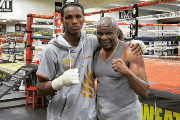 Carlos Mina was recently training at the Mayweather Boxing Club in Las Vegas, Nevada, with boxing legend Floyd Mayweather's father