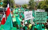 A previous Green March in the Dominican Republic.