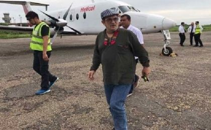 FARC leader London has returned to Colombia from Cuba where he received medical attention for a cerebral ischemia.