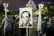 Catholics in El Salvador pay tribute to the slain Jesuit priests.