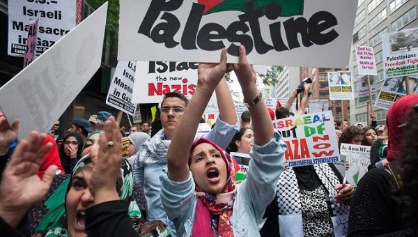 Pro-Palestinian demonstration in New York City.