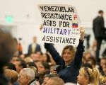 Venezuelan oppositionist calls for military intervention at meeting with U.S. Vice President Pence.