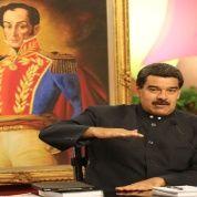 Maduro durante la rueda de prensa internacional en Miraflores.