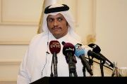 Qatar's foreign minister Sheikh Mohammed bin Abdulrahman al-Thani attends a news conference in Doha, Qatar, on August 2, 2017.