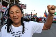 Milagro Sala during a protest before she was arrested in Jujuy, Argentina.