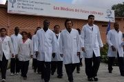 A team of Haitian medical students received their certification from  Venezuela's Latin American School of Medicine.