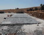 The destroyed classrooms in the occupied West Bank