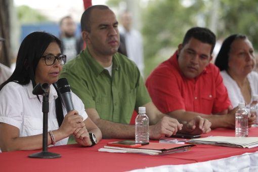 Delcy Rodríguez explicó que desde el sábado escucharon los relatos de las personas que fueron víctimas de hechos violentos promovidos por sectores de la oposición desde abril hasta julio pasado en Venezuela.