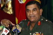 Sri Lankan Army Commander Lieutenant General Jagath Jayasuriya appears before the media in Colombo, Sri Lanka, on January 26, 2011.
