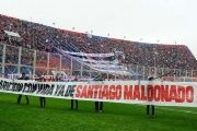 The San Lorenzo soccer team displayed a banner demanding to know Santiago Maldonado's whereabouts.