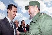 Bashar al Assad with Fidel Castro.