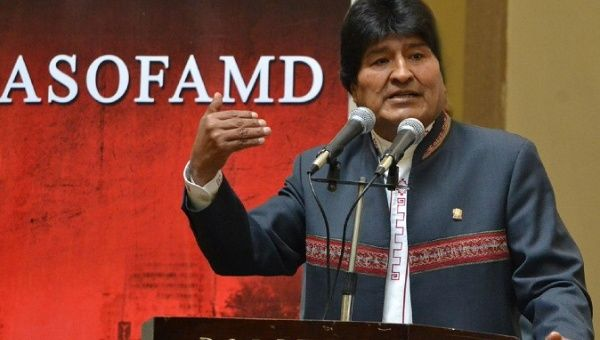 The Bolivian President reiterated his commitment to justice for victims of dictatorships