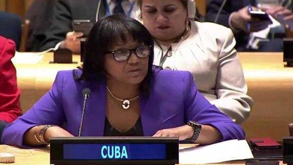 La diplomática instó a los países a ratificar el Tratado de Prohibición sobre las Armas Nucleares a aquellos países que se hayan abstenido de hacerlo.