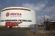 An oil tank is seen at PDVSA's Jose Antonio Anzoategui industrial complex in the state of Anzoategui.