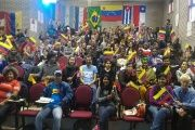 Students from 83 organizations and 42 countries, gathered in Brazil last month, in solidarity with Venezuela.