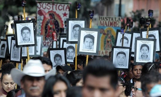 Protests have demanded transparent investigation and justice for the 43 disappeared students in Ayotzinapa.