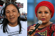 Milagro Sala (L) who is under house arrest will receive Piedad Cordoba (R) on Tuesday.