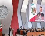 The Mexican President Enrique Pena Nieto makes his address to Congress in Mexico City, September 2, 2017