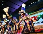 A folkloric group dances at Argentina's exposition.
