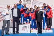 The gold medal champions from the AIBA World Boxing Championship in Hamburg, Germany.