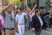 Trudeau is a supporter of the LGBTQ community, even attending marches in various Pride parades.