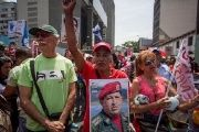 Supporters of the Bolivarian Revolution in Venezuela.