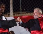 Lula presides over commencement ceremony at the University for International Integration of the Afro-Brazilian Lusophony during the Caravan of Hope.