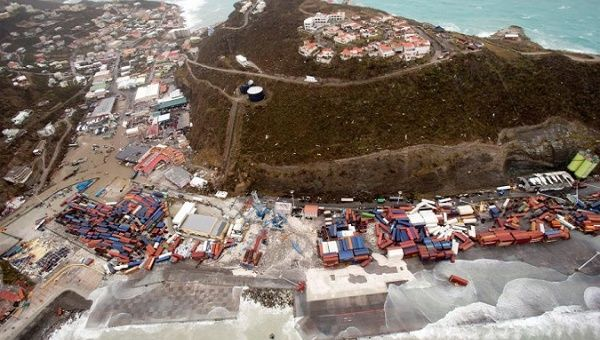 View of the aftermath of Hurricane Irma on Sint Maarten in the Caribbean Sept. 6, 2017.