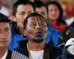 Members of the Indigenous community of Colombia attend their National Congress
