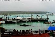 Authorities monitor the main port of Santa Cruz in Galapagos, Ecuador.