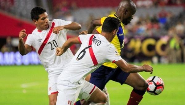 Peru beat Ecuador 2-1 on Tuesday in the qualifying match for next year's World Cup.